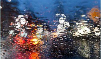 blurry windshield driving
