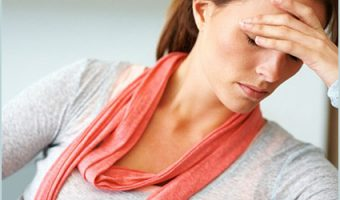woman with anxiety headache