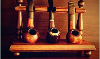 collection of tobacco pipes